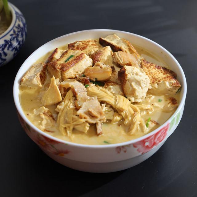 五花肉腐竹炖豆腐,冬天最美炖菜